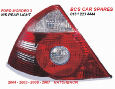 FORD MONDEO MK 3  PASSENGER SIDE REAR LIGHT  CHROME TYPE  N/S  2004 - 2005 - 2006  HATCHBACK